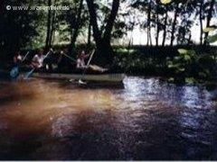 Mit den Kanu unterwegs